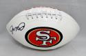 Joe Montana Autographed *Black San Francisco 49ers Logo Football with JSA W Auth