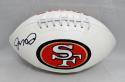 Joe Montana Autographed *Black San Francisco 49ers Logo Football with JSA W Auth