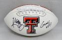 Kliff Kingsbury Signed Texas Tech Raiders Logo Football W/ Guns Up- JSA W Auth
