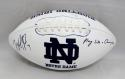 Will Fuller Autographed Notre Dame Fighting Irish Logo Football- JSA W Auth