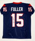 Will Fuller Autographed Blue Pro Style Jersey- JSA Witnessed Authenticated