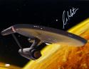 William Shatner Autographed Star Trek 16x20 Starship Enterprise Photo *R-JSA W Auth