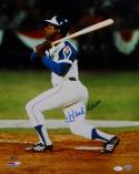 Hank Aaron Autographed Atlanta Braves 16x20 Batting PF Photo- JSA Authenticated