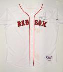 David Ortiz Signed Game Used Majestic Boston Red Sox Home Jersey- Steiner Auth