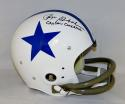 Roger Staubach Signed Dallas F/S White TK Helmet W/ Captain Comeback- JSA W Auth