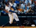 George Springer Signed *Silver Houston Astros 8X10 Batting Photo- JSA W Auth