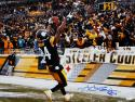 Antonio Brown Autographed Pittsburgh Steelers 16x20 Celebrating Photo-JSA W Auth