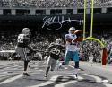 Miles Austin Autographed Cowboys 16x20 B&W Catch Against 49ers Photo- JSA W Auth