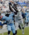 DeAndre Hopkins Signed Texans 16x20 Catch Against Titans Photo- JSA W Auth