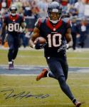 DeAndre Hopkins Signed Texans 16x20 Vertical Running W/ Ball Photo- Tristar Auth
