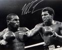 Mike Tyson Autographed B&W 16x20 Fighting Ali Photo- JSA Witnessed Auth