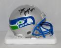 Steve Largent Autographed Seattle Seahawks Mini Helmet W/ HOF- JSA W Auth