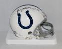 Lenny Moore Autographed *Black Baltimore Colts Mini Helmet W/ HOF- JSA W Auth