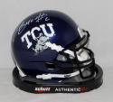 Trevone Boykin Autographed TCU Horned Frogs Schutt Mini Helmet- JSA W Auth