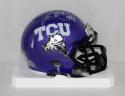 Trevone Boykin Autographed TCU Horned Frogs Speed Mini Helmet- JSA W Auth