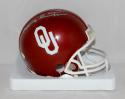 Barry Switzer Autographed OU Sooners Riddell Mini Helmet- JSA W Authenticated