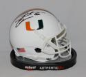 Santana Moss Autographed Miami Hurricanes Schutt Mini Helmet- JSA Witnessed Auth