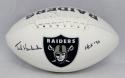 Ted Hendricks Autographed Oakland Raiders Logo Football With HOF- JSA W Auth