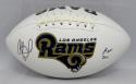 Orlando Pace Autographed Los Angeles Rams Logo Football With HOF- JSA W Auth