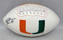 Santana Moss Autographed Miami Hurricanes Logo Football- JSA Witnessed Auth