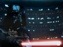 David Prowse Autographed Darth Vader 16x20 Dark Close Up Photo- JSA W Auth