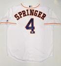 George Springer Autographed Houston Astros White Majestic Jersey- JSA W Auth