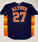 Jose Altuve Autographed Houston Astros Blue Majestic MLB Authentic Jersey- JSA W Auth