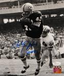 Charley Taylor Autographed Washington 8x10 B&W Catch PF Photo W/ HOF- JSA W Auth