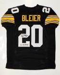 Rocky Bleier Autographed Black Pro Style Jersey W/ SB Champs- JSA Witnessed Auth