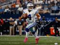 Dak Prescott Autographed *White Dallas Cowboys 16x20 Pink Shoes Photo-JSA W Auth