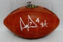 Dak Prescott Autographed *Silver NFL Authentic Football- JSA Witnessed Auth
