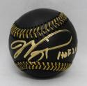 Mike Piazza Autographed Rawlings OML Black Baseball W/ HOF- PSA/DNA Auth