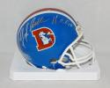 Floyd Little Signed Denver Broncos TB Mini Helmet With HOF- The Jersey Source Auth