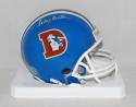 Craig Morton Autographed Denver Broncos TB Mini Helmet- The Jersey Source Auth
