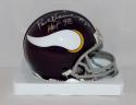 Paul Krause Signed Minnesota Vikings Mini Helmet W/ HOF- The Jersey Source Auth