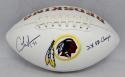 Charles Mann Autographed Washington Redskins Logo Football- The Jersey Source Auth