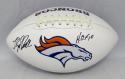 Floyd Little Autographed Denver Broncos Logo Football W/ HOF- The Jersey Source Auth
