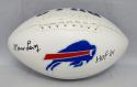 Marv Levy Autographed Buffalo Bills Logo Football W/HOF- The Jersey Source Auth