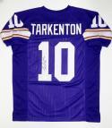 Fran Tarkenton Autographed Purple Pro Style Jersey W/ HOF- JSA Witnessed Auth