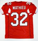 Tyrann Mathieu Autographed Red Pro Style Jersey- PSA/DNA Authenticated