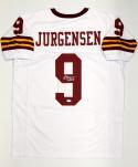 Sonny Jurgensen Autographed White Pro Style Jersey W/ HOF- JSA Witnessed Auth
