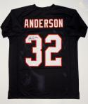 Jamal Anderson Autographed Black Pro Style Jersey- JSA Witnessed Auth