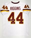 John Riggins Autographed White Pro Style Jersey With HOF- PSA/DNA Authenticated