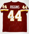 John Riggins Autographed Maroon Pro Style Jersey With HOF- PSA/DNA Authenticated