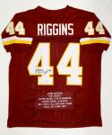 John Riggins Autographed Maroon Pro Style Stat Jersey With HOF- PSA/DNA Auth