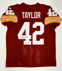 Charley Taylor Autographed Maroon Pro Style Jersey W/ HOF- JSA Witnessed Auth