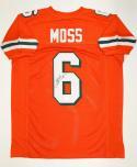 Santana Moss Autographed Orange College Style Jersey- JSA Witnessed Auth