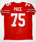 Orlando Pace Autographed Red College Style Jersey W/ 2X All American- JSA W Auth
