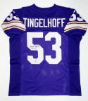 Mick Tingelhoff Signed Purple Pro Style Jersey- The Jersey Source Authenticated