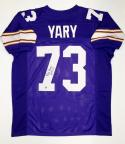 Ron Yary Autographed Purple Pro Style Jersey With HOF- The Jersey Source Auth